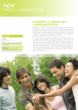 ACN France Profil D`enterprise