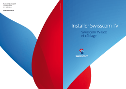 Configurer Swisscom TV