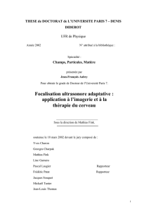 Focalisation ultrasonore adaptative : application à