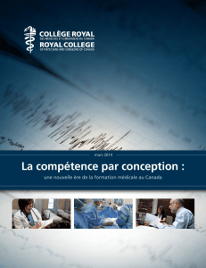 La compétence par conception - The Royal College of Physicians