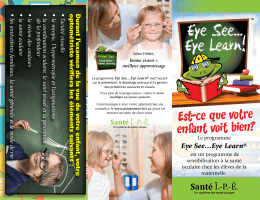 Eye See…Eye Learn - Prince Edward Island