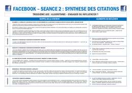 FACEBOOK – SEANCE 2 : SYNTHESE DES CITATIONS