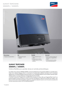 SUNNY TRIPOWER 20000TL / 25000TL - Solutions