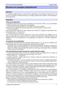 Structure du syntagme prépositionnel