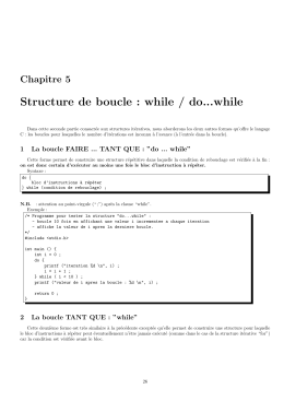Structure de boucle : while / do...while