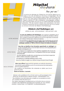 Annonce - Médecin-chef radiologue.indd