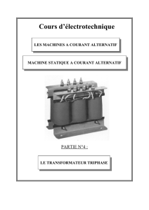 machine -AC transfo triphasé