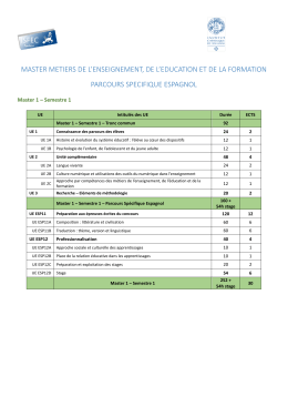 master metiers de l`enseignement, de l`education