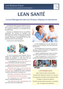 L`ATTITUDE LEAN Lean Business France Le Lean Management