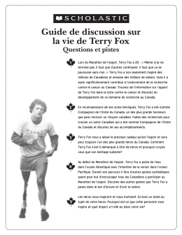 Guide de discussion sur la vie de Terry Fox Questions et pistes