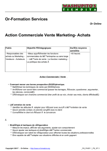 Action Commerciale Vente Marketing- Achats - Or