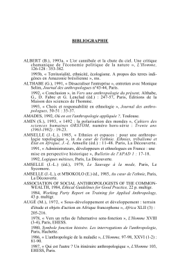 Les applications de l`anthropologie - texte intégral (2008) - Hal-SHS