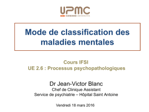 Mode de classification des maladies mentales