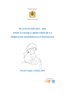 plan d`action 2012 – 2016 pour acceler la reduction de la