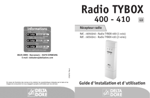 Radio TYBOX - Domotec Services