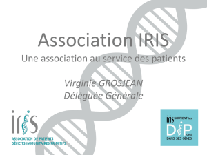 Une association au service des patients Virginie GROSJEAN