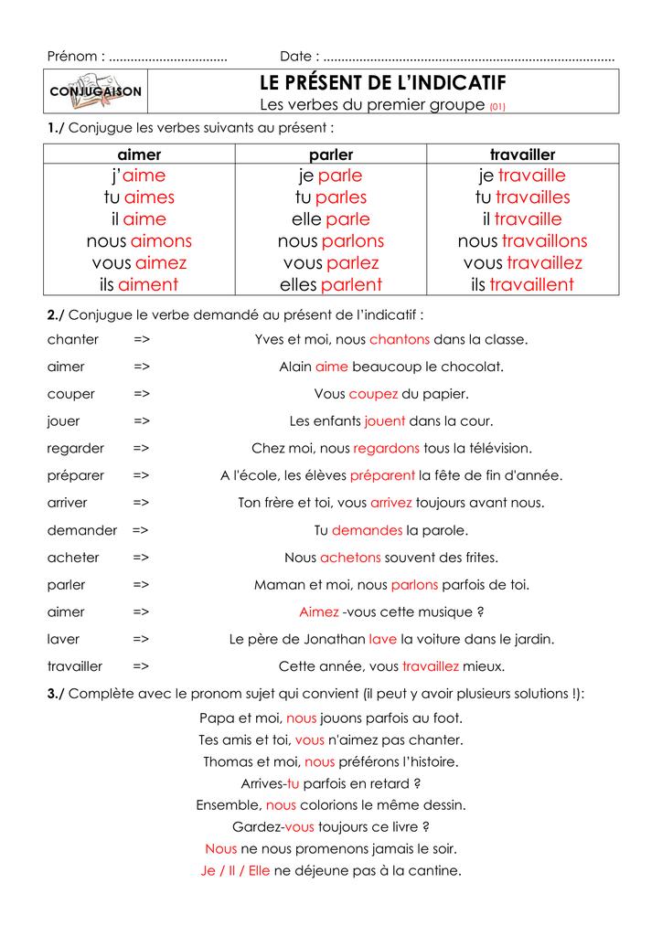 Conjugaison Verbe Envoyer Present De L Indicatif