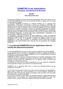 DIAMETER et ses Applications