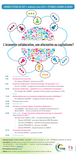 L`économie collaborative, une alternative au capitalisme?