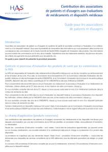 Guide pour les associations de patients et d`usagers