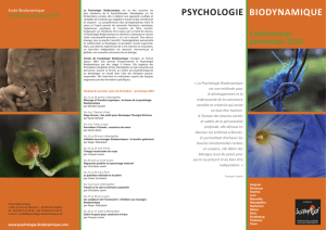 psychologie biodynamique