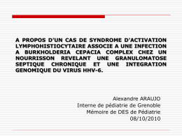 A PROPOS D`UN CAS DE SYNDROME D`ACTIVATION