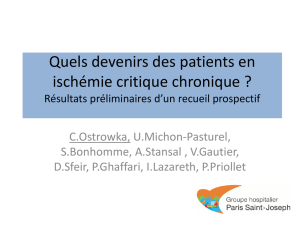 Quels devenirs des patients en ischémie critique chronique ?