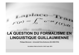 La question du formalisme en linguistique guillaumienne(1)