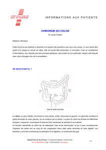 informations aux patients chirurgie du colon