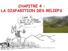 disparition du relief