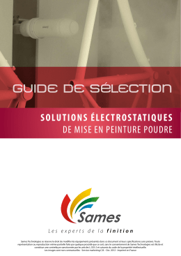 GUIDE DE SéLECTION - Sames Technologies Extranet