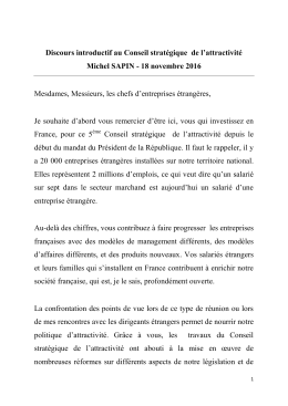 Intervention de Michel Sapin au 5 e Conseil