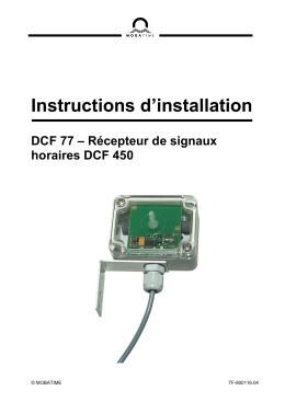 Instructions d`installation