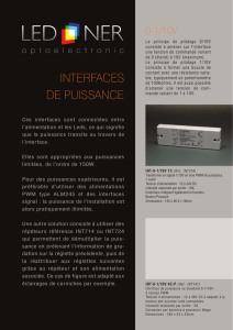 Interfaces puissance - LED-NER