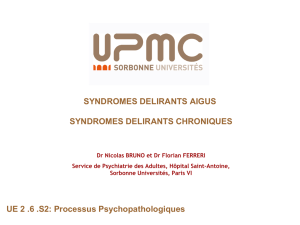 Syndrome dissociatif.