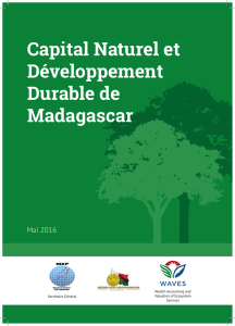 Capital Naturel et Développement Durable de Madagascar