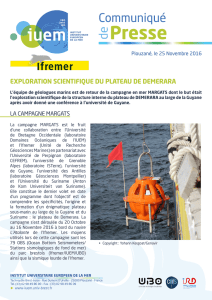 exploration scientifique du plateau de demerara