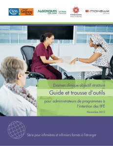 OSCE Toolkit and Guide (FR) - George Brown College Continuing