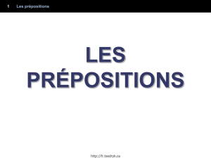 LES PRÉPOSITIONS (INTRODUCTION)