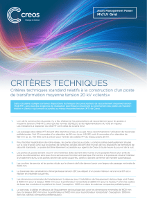 Critères teChniques - Creos Luxembourg SA