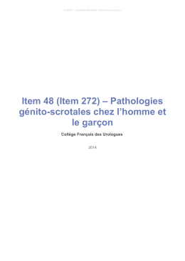 Item 48 (Item 272) – Pathologies génito