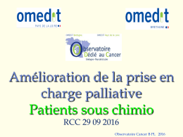 Amélioration de la prise en charge palliative Patients sous chimio
