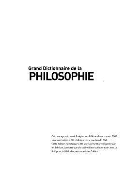 Grand dictionnaire de philosophie