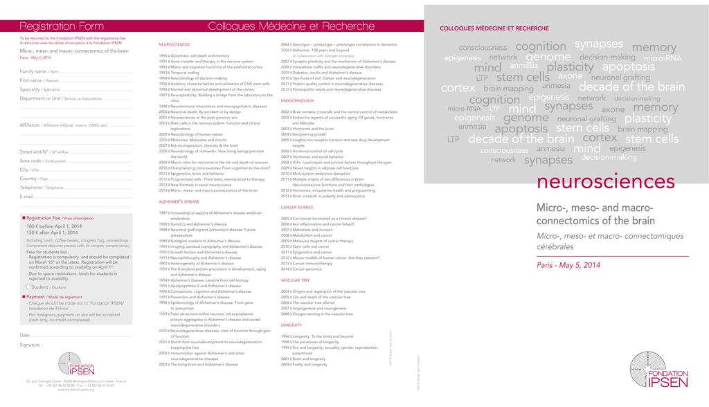 neurosciences - fondation ipsen