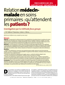 qu`attendent les patients