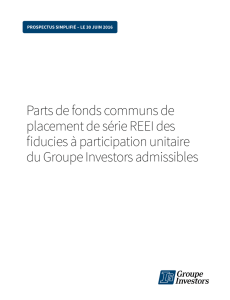 Parts de fonds communs de placement de série