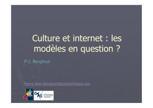 Culture et internet : les modèles en question
