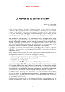Le marketing au service des IMF