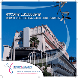 Brochure institutionnelle du Centre Antoine Lacassagne