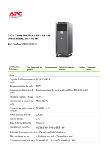 MGE Galaxy 300 20kVA 400V 3:1 with 10min Battery, Start